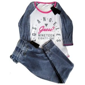 Guess Tracksuit, 2Pcs Set Sweatshirt+Sweapants